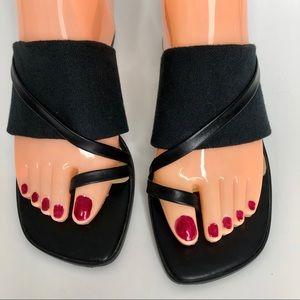 Liz Claiborne Chunky Heel Slide Sandals size 8